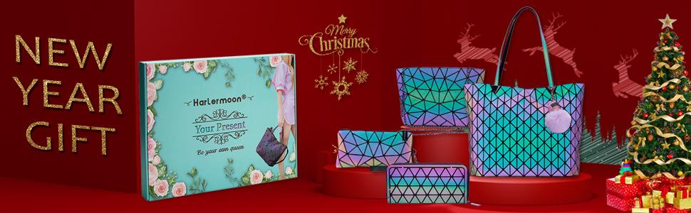 Tote geometric bag set Christmas gift purses