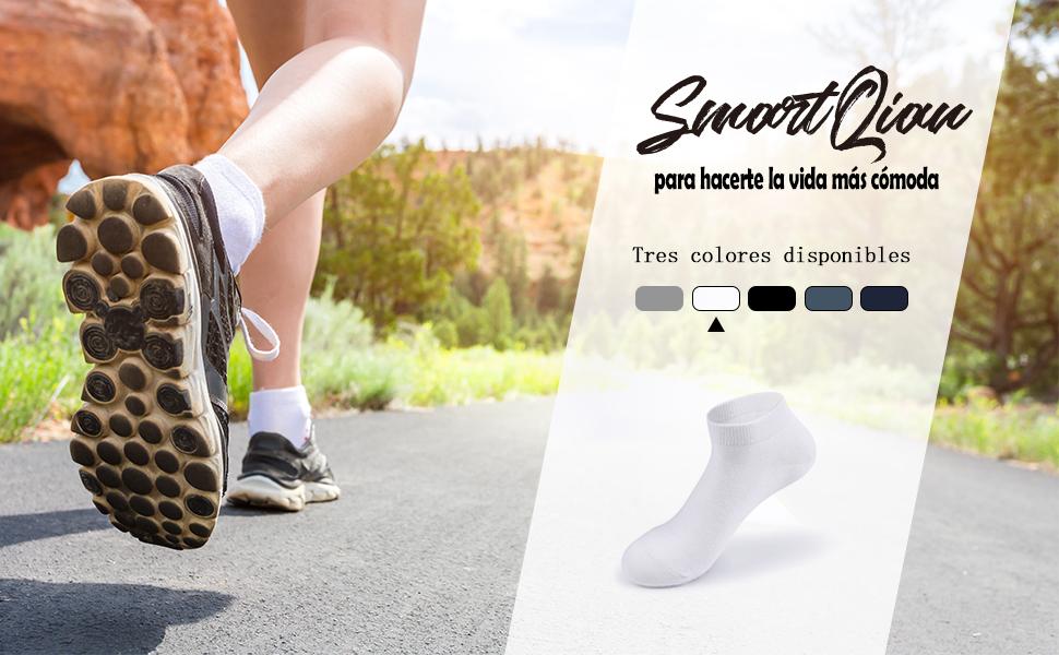 SmartQian 9 Pares//10 Pares Calcetines Tobilleros Hombre Mujer Deportivos Cortos Algodon