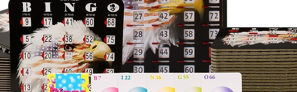 bingo shutter cards with sliders