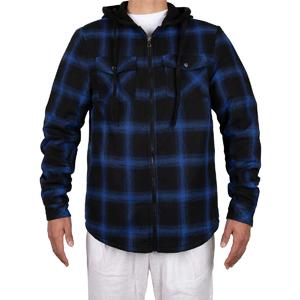 Mens Hooded Flannel Shirt Jacket