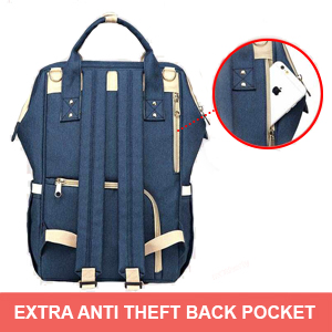 Anti theft pocket of Motherly Diaper Bag