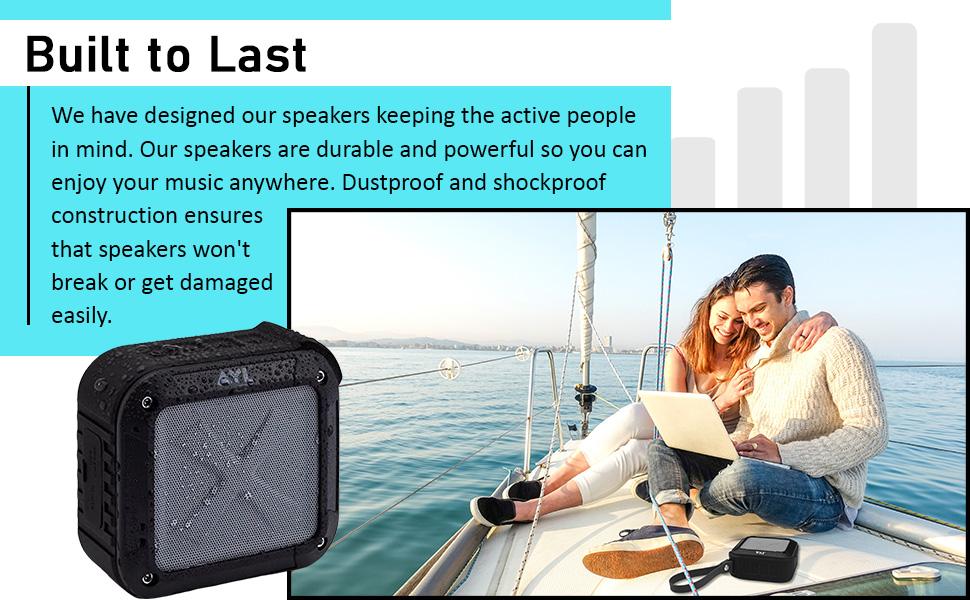 Waterproof IPX6 portable speaker