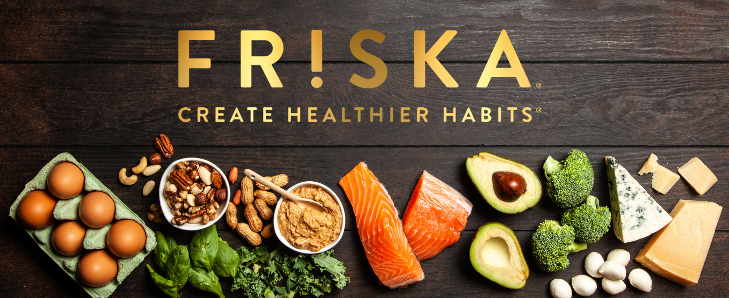 FRISKA KETO BOOST digestive enzymes and probiotic capsules support gut health and beat the bloating