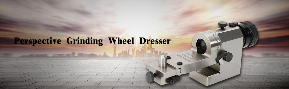 Wheel Dresser TBVECHI KT50 Perspective Grinding Wheel Dresser Visual Optical Radius Angle Dresser /φ200mm Max Diameter 65mm Center Great