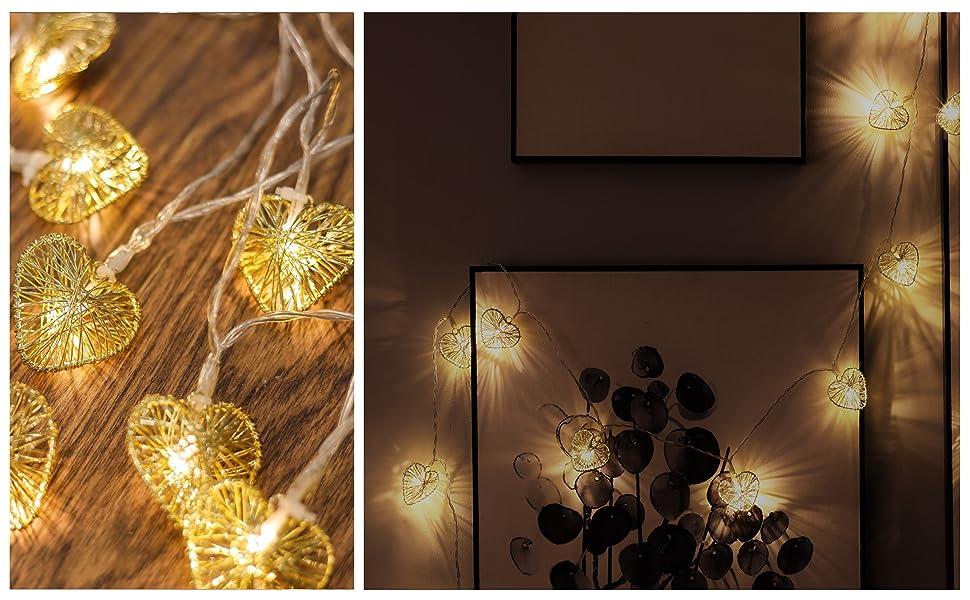Hart licht decoratie goud