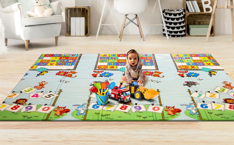 Aceshin Byby Play Mat Crawling Mat Kids Playmat