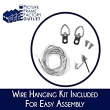 Wire Hanging Kit Included for Easy Assembly