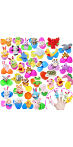 48 Finger Puppet Easter Eggs