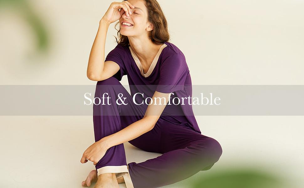 night wear womens pajamas short sleeve top pants