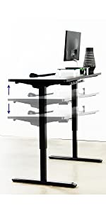 height adjustable desk electric
