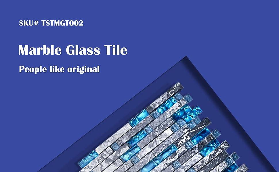 marble glass tile TSTMGT002