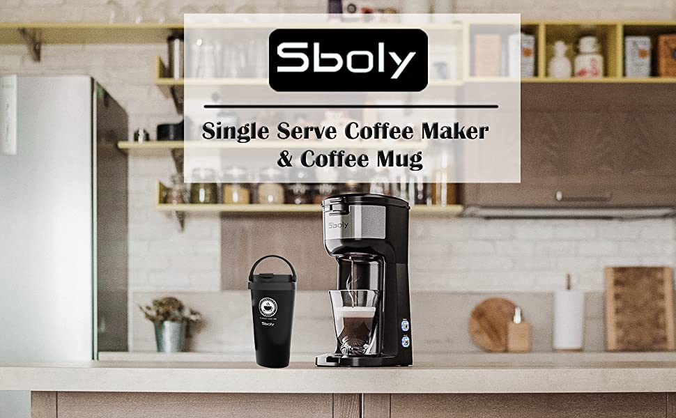 single serve coffee maker with travel mug