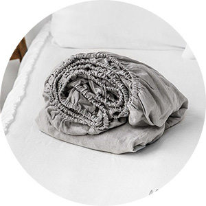linen cotton fitted sheet