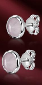 Orecchini con lunetta Swarovski argento