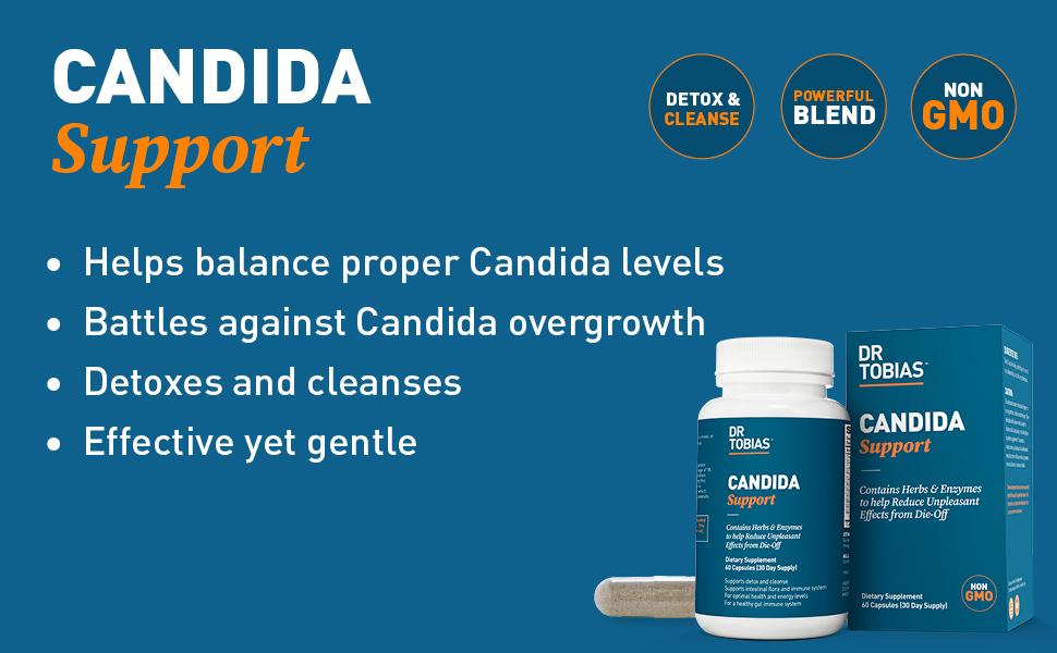dr tobias, candida, support, supplement, detox, cleansing, detoxing