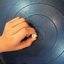Gym Ball, way to inflate, step 3