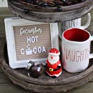 stand easel display frame photo letterboard message wood farmhouse