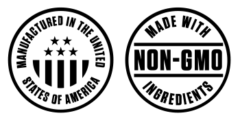 Non-GMO, Manufactured in USA