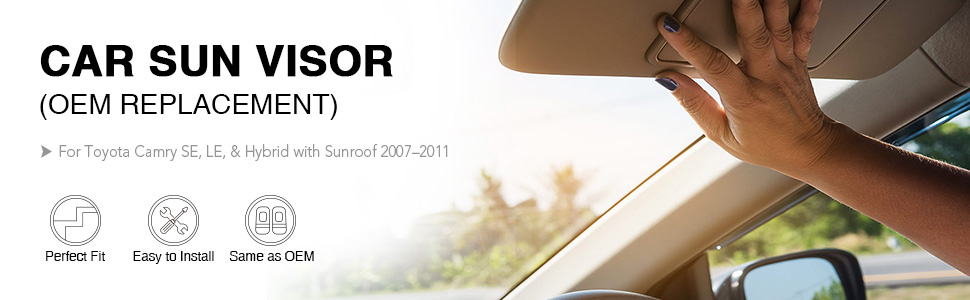 driver side sun visor