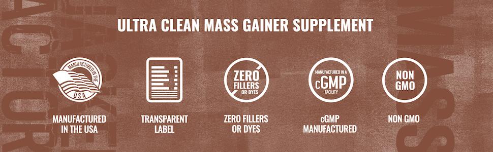 Ultra-Clean Mass Gainer Supplement