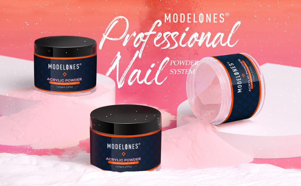 acrylic powder nude clear nail  acrylic powder modelones