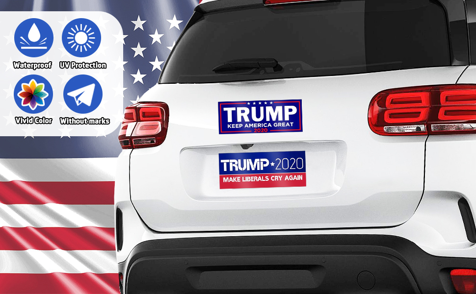 RED Trump /2020 car rearview mirror accessoriesp Keep America Great/Premium Quality/Mirror Protect Cover/Fits Cars SUV Truck Van with/2 pack