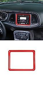 Dashboard Navigation Screen Frame Trim Cover for Dodge Challenger