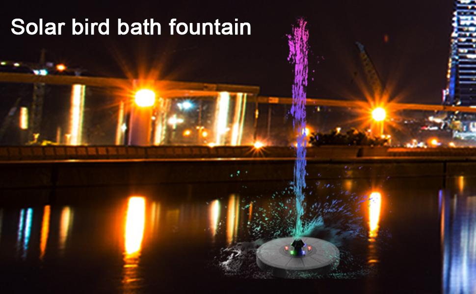 solar pond pump solar bird bath water fountain pump hummingbird bath fountain bird fountain pump