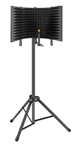 Flashandfocus.com d6de7f78-f64b-4658-856f-2223a501efc4.__CR375,0,750,1500_PT0_SX150_V1___ Aokeo Professional Studio Recording Microphone Isolation Shield, Pop Filter.High density absorbent foam is used to…