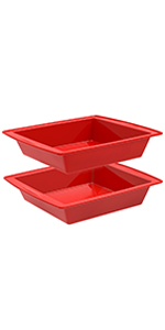 silicone square cake pans for brownie,bread and cake