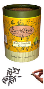 EarthPods Kitchen Garden Herbs Leafy Lettuce Vegetables Organic Plant Food Fertilizer Spikes