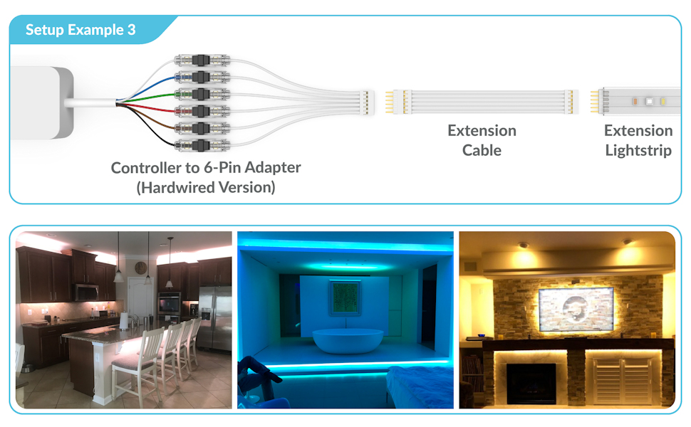 1m extension cable for philips hue lightstrip