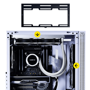 swappable top and front fan bracket