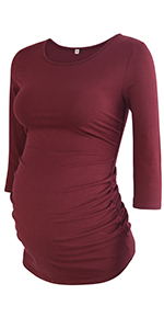 Maternity 3/4 Sleeve T-Shirt