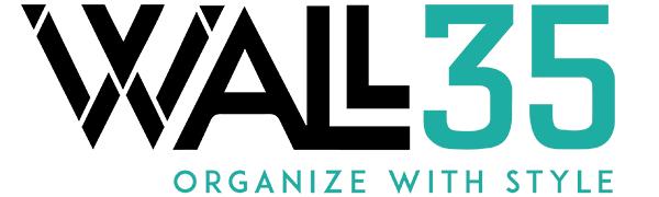 Wall35 Company Logo Wire Basket Desk Organizer Black Magazine Holder wall organizers hanging folder