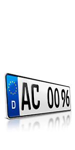 Schildevo 2 Carbon Kfz Kennzeichen 460 X 110 Mm Offiziell Amtliche Nummernschilder Din Zertifiziert Eu Wunschkennzeichen Mit Individueller Prägung Autokennzeichen Auto