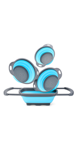 Silicone Collapsible Colander Set