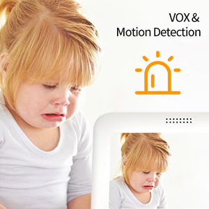 motion detection alarm crying alarm VOX detection baby monitor energy saving baby camera ECO