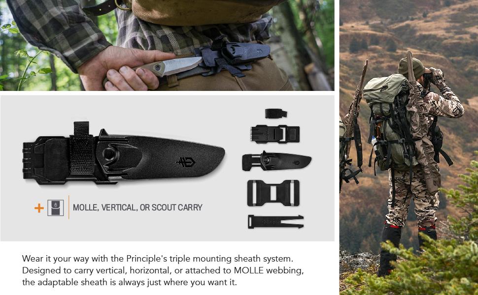 brown survival sharp molle carry dropleg scout hunter cutting plastic swedish Norwegian equipment