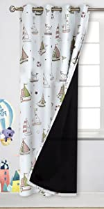 Kids Blackout Curtains for Bedroom - Grommet Thermal Insulated  Room Darkening Drapes For Nursery