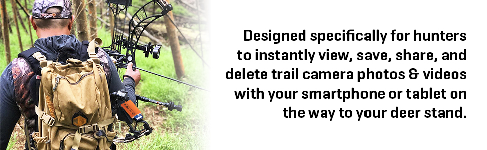 view trail camera photos and videos save share delete while hunting in deer stand