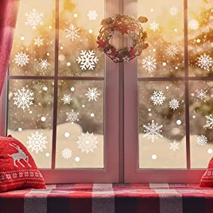 chrismas window clings snow