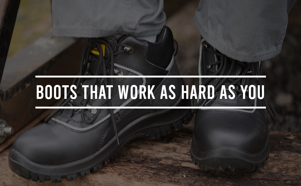work boots that work as hard as you on the job contruction site workwear steel toe cap
