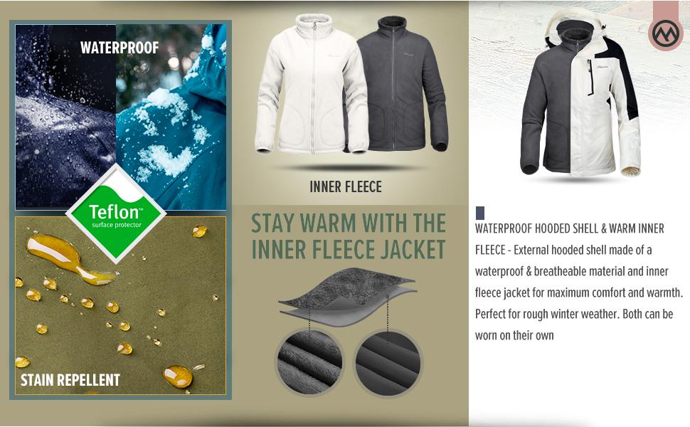 OutdoorMaster Men's 3-in-1 Winter Jacket