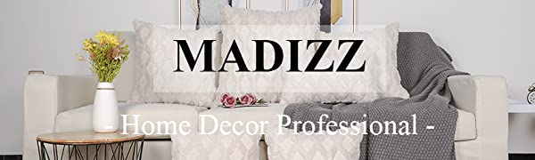 Madizz wool decorative throw pillow covers 12x20, 16x16, 18x18, 20x20, 22x22, 24x24