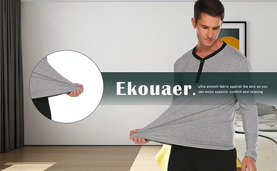 ekouaer pajamas set for men