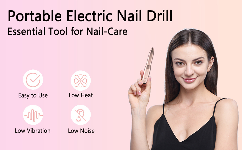 MelodySusie Electric Nail Drill 11 in 1 Set, Professional Nail Drill Machine for Acrylic Gel Nails