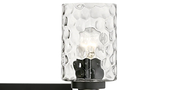 hammered glass lampshade