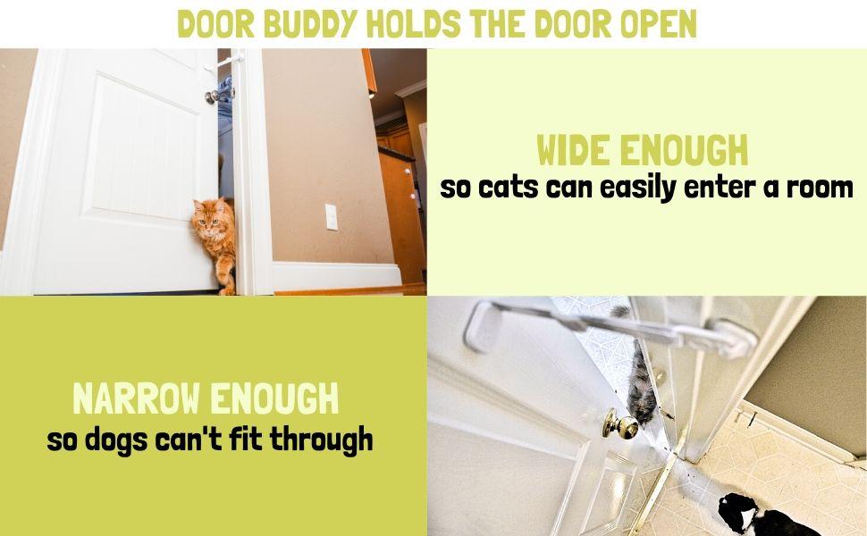 hold door open for cat keep door ajar