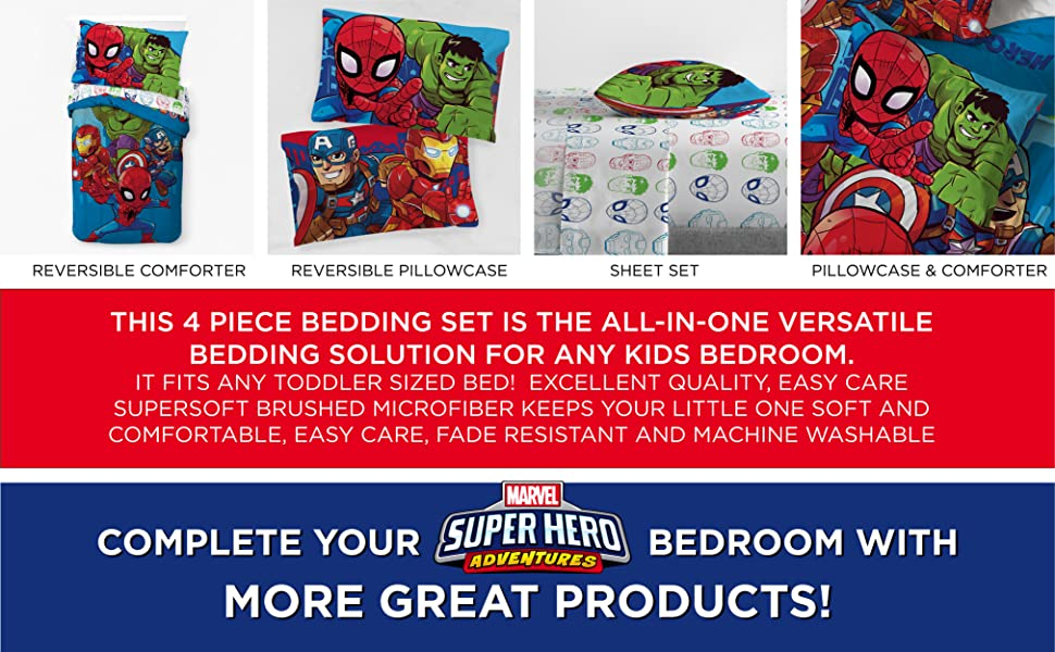 Avengers, Bed Set, Sheet Set